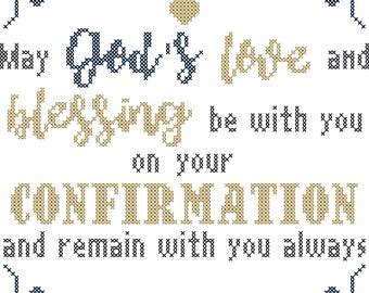 Confirmation Cross Stitch Pattern/Modern Confirmation Gift/Cross Stitch Confirmation/Confirmation Cross Stitch/Confirmation Pattern/PDF File