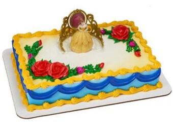 Disney Princess Belle Beautiful as a Rose DecoSet Cake Topper Beauty And Beast