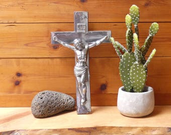 Vintage Catholic Priest's Altar Wall Crucifix