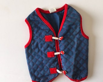 Vintage Quilted Vest Toggle Buttons (2t)
