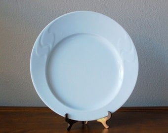 Vintage Rosenthal Asymmetria white porcelain modern dinner plates set of 8 SS pattern  WINNBALD