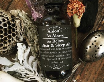As Above / So Below Elixir ~ Astral Projection and Spirit Communication Potion ~ Gypsy Witch Ghosts Medium Mystic Sleep Aid