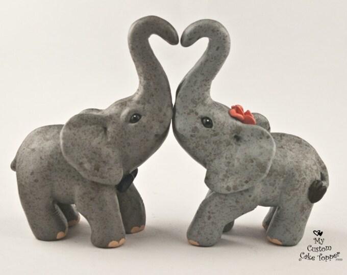 Elephants Love Wedding Cake Topper Standing