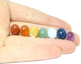 Chakra Cabochon Set - 7 Natural Gemstones