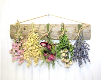 Rustic Dried Flower Rack, Wall Decor