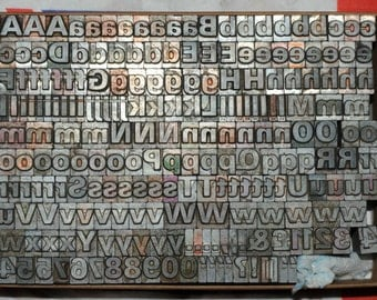 30pt Metal letterpress Type # ADANA EIGHT FIVE 8 x 5 user - price per letter or number