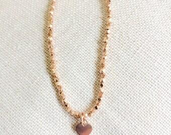 Rose gold beaded bracelet