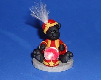 Polymer Clay Black Cat Fortuneteller