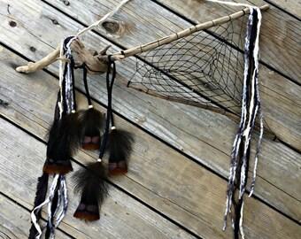 Night Skies Dream catcher , black natural driftwood dreamcatcher