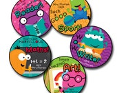 MONSTER ACADEMY Personalized stickers for Teachers