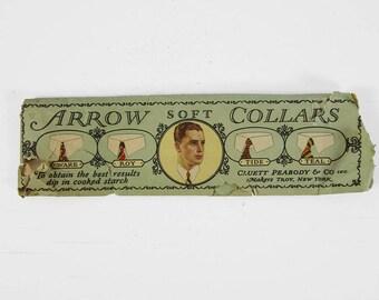 Vintage 1920s Arrow Collar White NOS Tide Detachable Collar Size 17