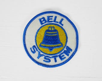 Vintage Bell System Patch Telephone Round Phone Blue 3 1/2 Inch