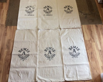 6 Pack of Vintage Bemis sacks.       1025162