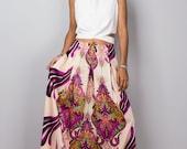 Maxi skirt, long skirt, pink cream skirt, boho skirt, women's skirt, summer skirt, floor length skirt, high waist skirt : Feel Good No.1