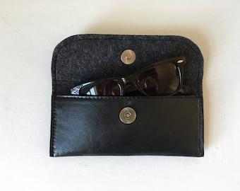 Repurposed Leather Glasses Case