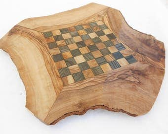 Handcrafted Rustic Wooden Chess Board Set, Boyfriend gift