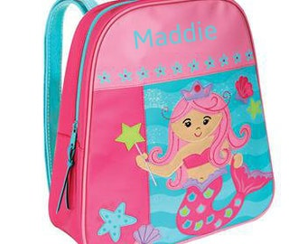 Personalized Backpack Stephen Joseph GoGo Bag Mermaid