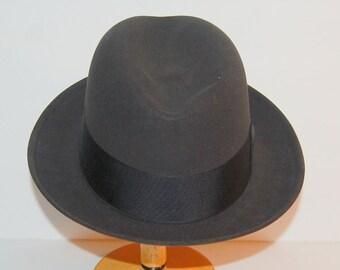 "Beaver Fur Fedora Vintage Resistol Stylish ""Mr. Chairman"" Hat Size 7 Rat Pack"