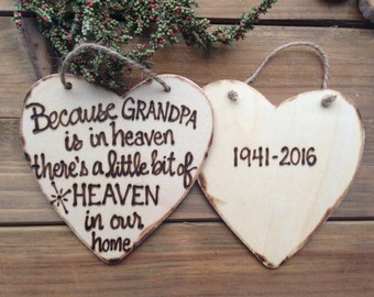 Sympathy Remembrance Christmas ornament someone we love is in Heaven Personalized Grandma Grandpa Mom Dad Baby Loss Grief Sentimental Gift