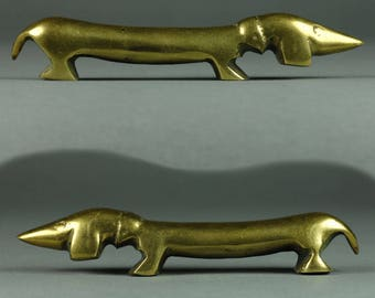 Walter Bosse - Design Object  brass - Wiener Dog - Dachshund brass
