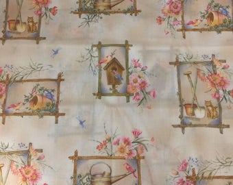 "100% Cotton Fabric ""Awakenings to Spring"" by Maywood Studio EESCO 1 Yard"
