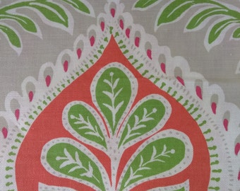Pair = 2- 48w x 83L flat lined panels. Thibaut-Midland in Pink and coral