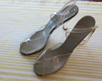 LUCITE and Clear Plastic Shoes - Women's 8N