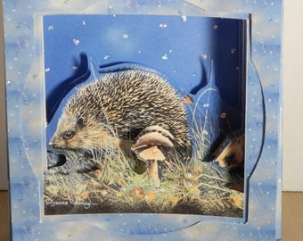 Hedge Hog Concertina card