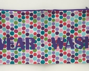Sparkle Bigs Polka Dots Wear and Wash Travel Laundry Bag