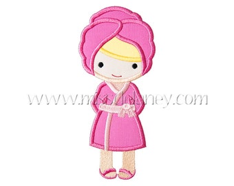 Spa Girl Applique Design