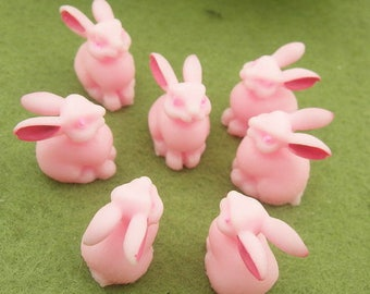8 pcs Lovely Rabbit  Baby Cabochon,12x15mm