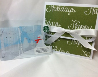 Happy Holidays on Evergreen Gift Card Holder