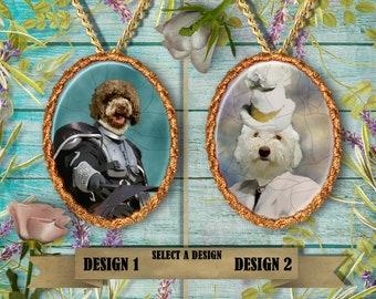 Lagotto Romagnolo Jewelry. Lagotto  Pendant or Brooch. Lagotto Necklace. Lagotto  Portrait. Custom Dog Jewelry.Handmade Jewelry