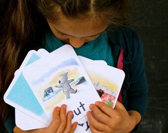 Sight Word Art Flashcards, Set C, reading tools, kindergarten, preschool, animal art, elementary, teacher gift