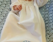 Handmade Smocked Boy's Day Gown