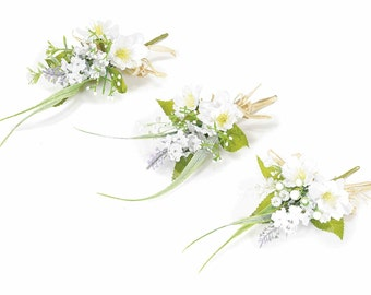 Bouquets Artificial Flowers Ceremony Corsage Gift Tags 12 pcs