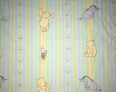 Classic Pooh Striped Fabric by the Yard