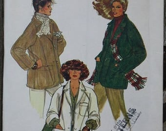 60off Sale Vogue 7195 1970s 70s Boxy Raglan Coat Jacket Vintage Sewing Pattern  Size 14 Bust 36