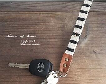 Nautical anchor unisex leather middle size key holder gift idea Japan zakka