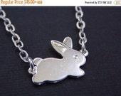 SALE Silver Necklace, Rabbit Necklace, Bunny Necklace, Silver Bunny, Silver Rabbit, Rabbit Pendant, Bunny Pendant, Small Bunny, Animal Jewel