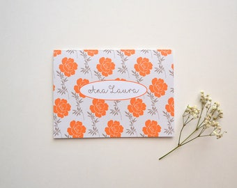 Note Cards Set - Personalized Stationary - Set of 8