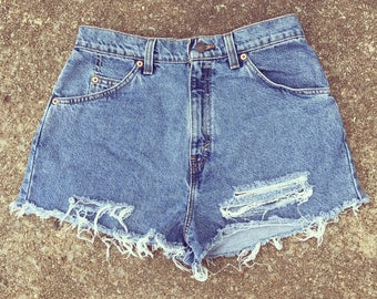 Vintage Levi's denim cut-off shorts