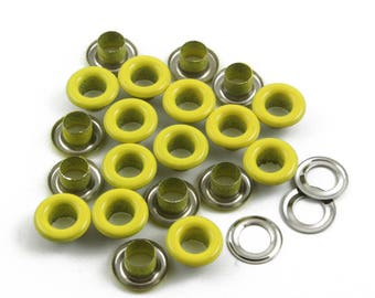 Size: 10*5*5mm (OD * ID * Height) Yellow Round Eyelet Grommet (YELLOW-RG10)