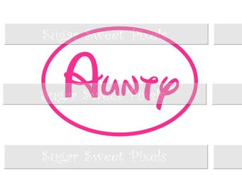 INSTANT DOWNLOAD  Pink  Aunty  Digital Image for Iron On Shirt transfer print yourself