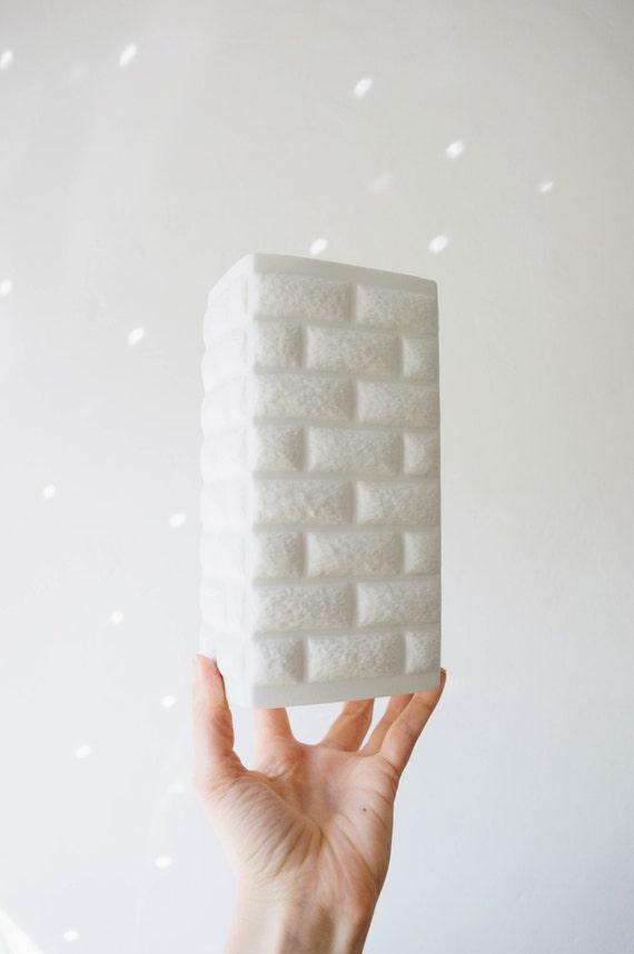 Mid Century Modern Matte White Porcelain Vase // Edelstein // Modernist Scandinavian Home Decor