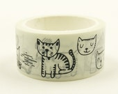 Pet Drawings - Japanese Washi Masking Tape - 20mm Wide - 5.5 Yards