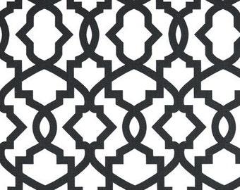 Fabric Yardage Charcoal Trellis Sheffield Fabric - Premier Prints Fabric - Trellis - Dark Grey. Fabric by the Yard
