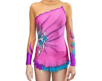 Rhythmic Gymnastics Leotard #192 for Competition | Order as Ice Figure Skating Dress, Acrobatic Gymnastics Costume or Baton Twirling Leotard