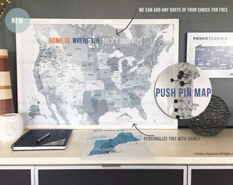 Framed Ski map, Ski decor, Gift for Skiers, USA Ski Map, 30X45 Inches, Gift for Dad or Mom, FRAMED Ski map, Home office decor