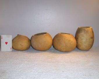 4 Gourd Bowls Craft Ready Centerpiece Table Decoration Country Wedding Rustic Decor dried gourds....... 5/17#3